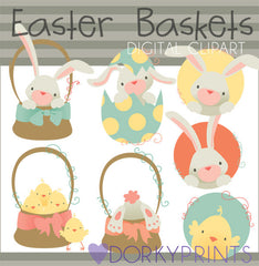 Easter Basket Spring Clipart
