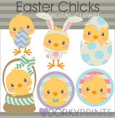Easter Chicks Spring Clipart
