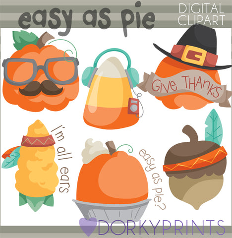 Pumpkin Pie Thanksgiving Clipart