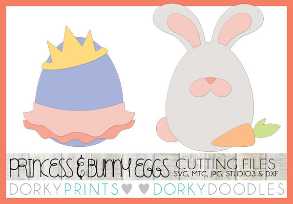 Easter Egg Princess and Bunny SVG Cuttable Files