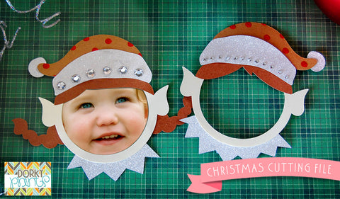 Christmas Elf Frame Cuttable Files