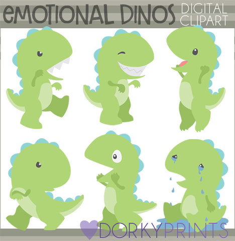 Emotional Dinosaur Animals Clipart