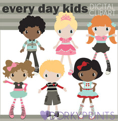 Cute Kids Digital Clip Art