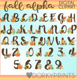 Fall Font and Symbols Clipart