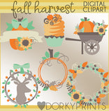 Fall Harvest Thanksgiving Clipart