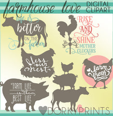Farmhouse Animals Clipart