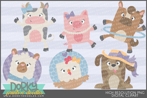Cute Farm Animals Clipart