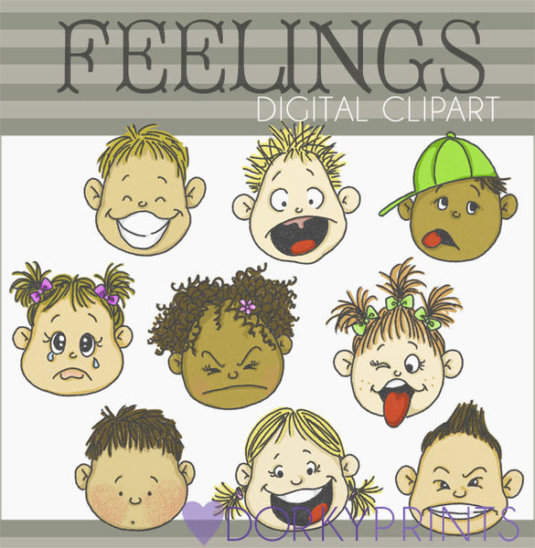 Feelings Kid Clipart