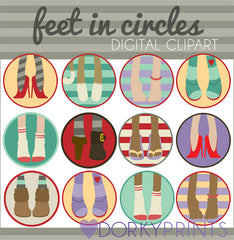 Feet in Circles Kid Clipart
