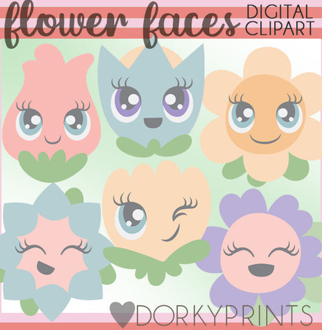 Happy Flowers Spring Clipart