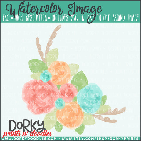 Spring Flowers Watercolor PNG