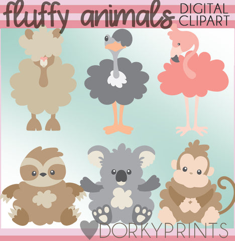 Fluffy Animals Clipart