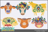 Folk Art Animals Clipart