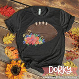 Football and Flowers Watercolor PNG