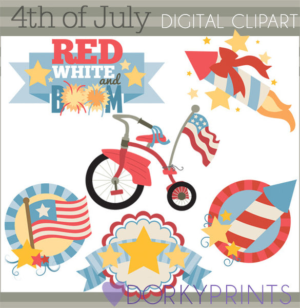 4th of July Summer Clipart
