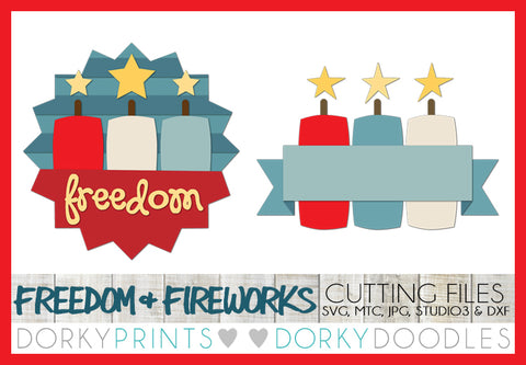 Freedom and Fireworks Cuttable Files
