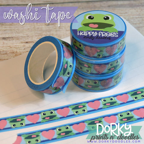 Cute Froggy Washi Tape