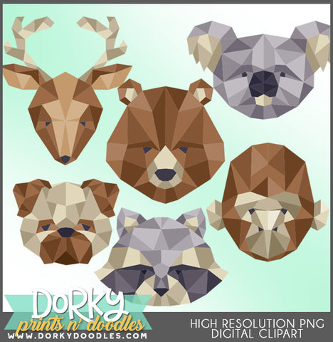 Geometric Animals Clipart
