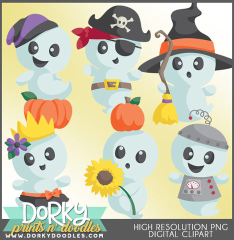 Cute Ghost Halloween Clipart