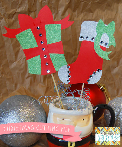 Christmas Stocking and Gift Cuttable Files