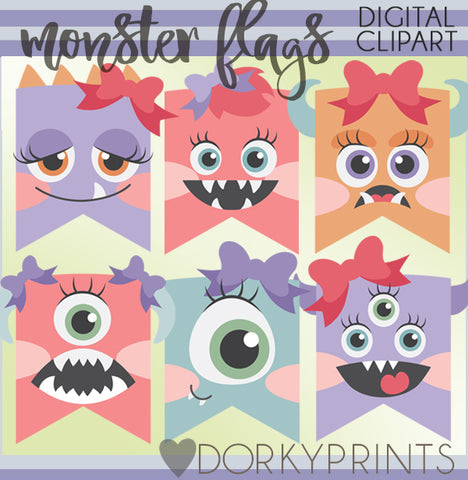 Girl Monster Clipart