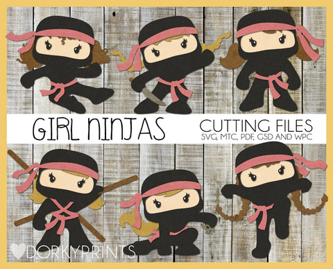 Ninja Girls Cuttable Files