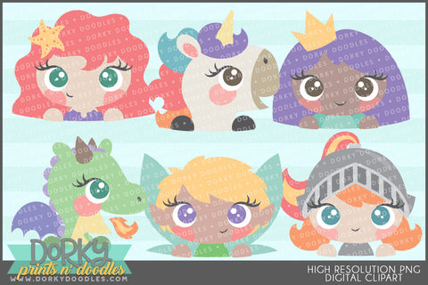Girly Fantasy Character Clipart
