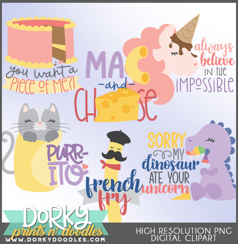 Girly Words Clipart