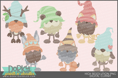 Gnome Animals Clipart