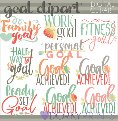 Setting Goals Clipart