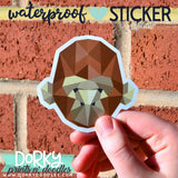 Geometric Gorilla Large Waterproof Sticker