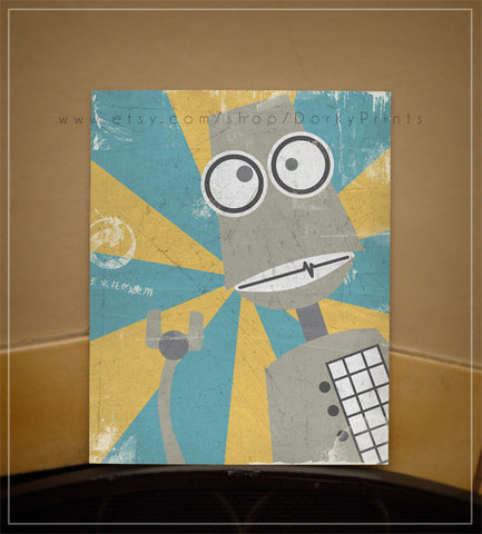 "Gray Robot 8x10"" Printable"
