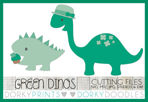 St Patrick's Day Dinosaurs Cuttable Files