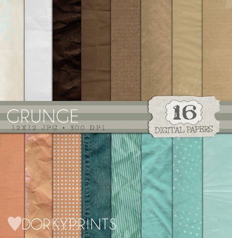 Grunge Digital Paper Pack