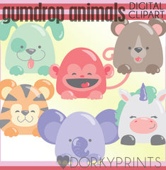 Gumdrop Animals Clipart