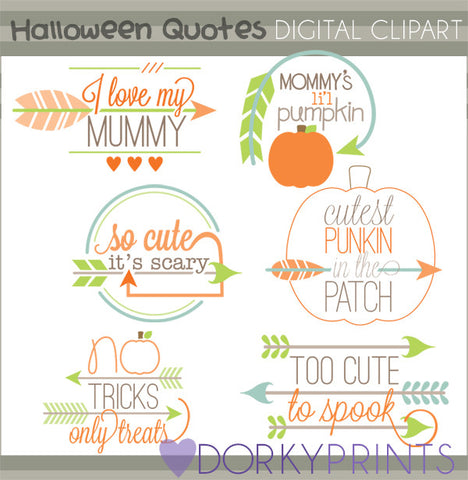 Arrow Quotes Halloween Clipart
