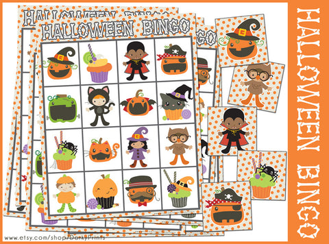 Halloween Bingo Game Learning Printables