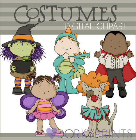 Costumes Halloween Clipart
