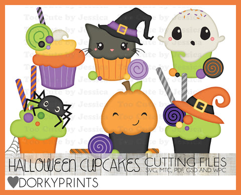 Halloween Cupcake Cuttable Files