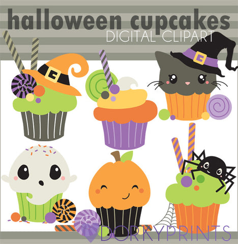 Cupcakes Halloween Clipart