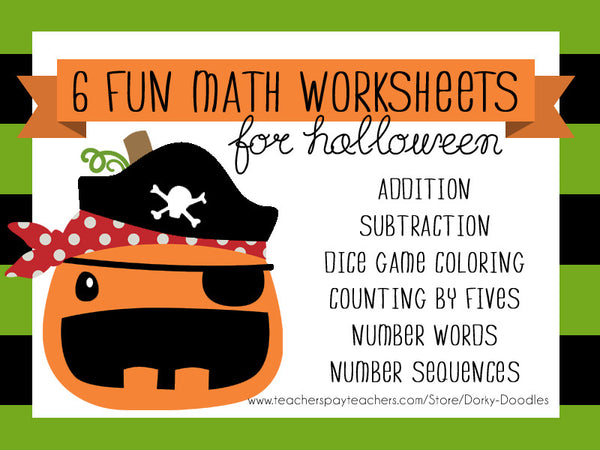 Halloween Math Worksheets Learning Printables