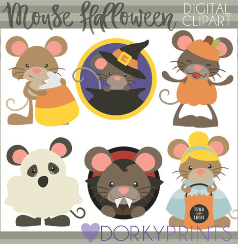 Mouse Halloween Clipart