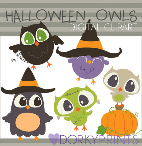 Owls Halloween Clipart