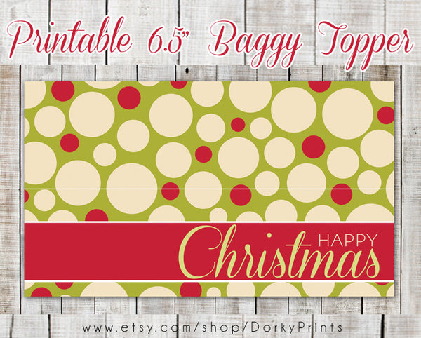 Happy Christmas Baggy Topper Holiday Printables