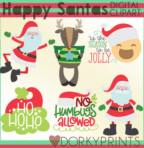 Happy Santa Christmas Clipart