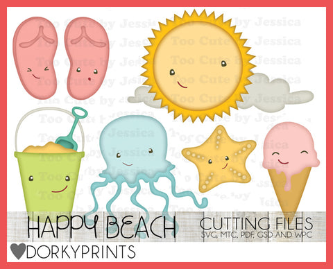 Cute Beach Cuttable Files
