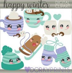 Hat and Mittens Christmas Clipart