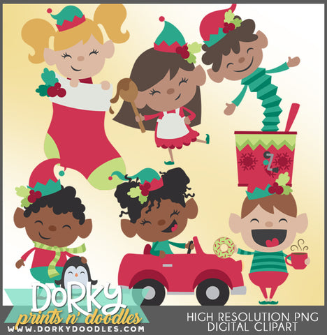 Happy Elf Christmas Clipart