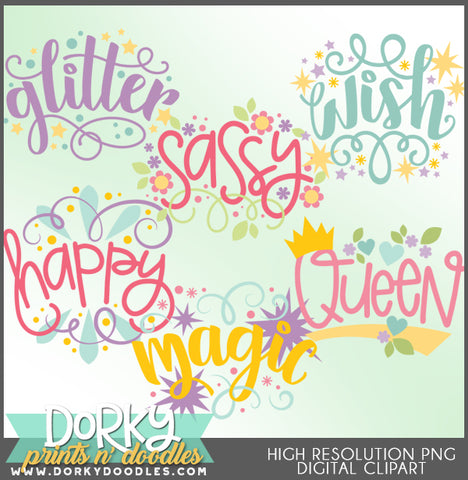Happy Words Clipart