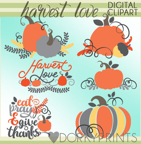 Harvest Love Thanksgiving Clipart